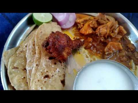 Chapati and chicken curry eating telugu| spicy food |Kranthi eating show