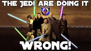 Jedi fight with their lightsabers WRONG: Star Wars