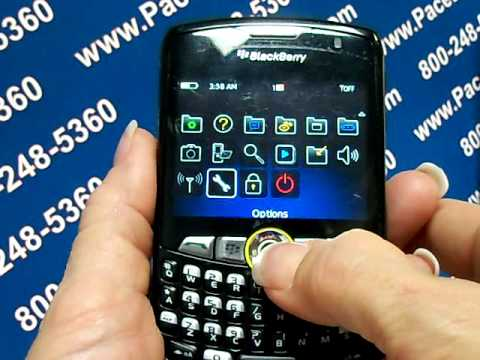Blackberry 8350i Curve - Erase Cell Phone Info - Delete Data - Master Clear Hard Reset