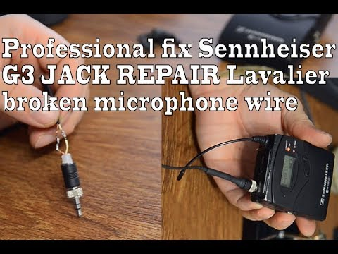 professional fix sennheiser g3 jack repair lavalier broken cooler master wiring diagram sennheiser microphone wiring diagram #12