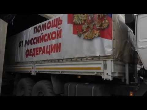Russian 'Aid' Convoy Enters Ukraine: Moscow officials say trucks carry macaroni, medical supplies