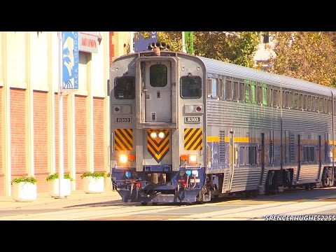 AWESOME AMTRAK TRAIN HORNS @ Jack London Square in Oakland, CA (Septmber 8th, 2014)