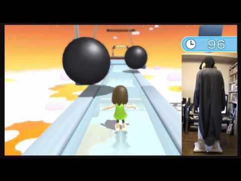 [Wii Fit Plus] ペンギンでアスレチックMii上級(動作実況つき)