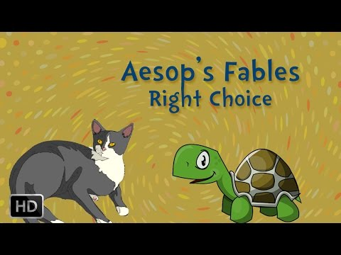 Aesop's Fables - Short Stories For Children - The Right Choice video