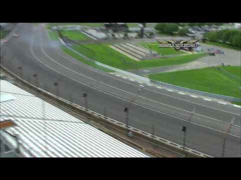 John Andretti crashes in practice