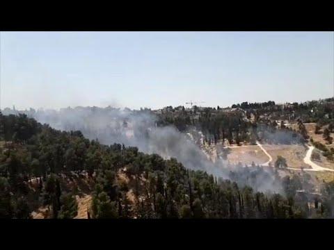 שריפה ביער השלום סמוך לירושלים