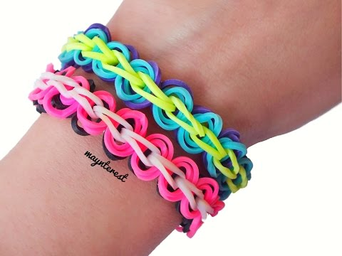 Pulsera de gomitas con círculos / Rubber band bracelet with circles