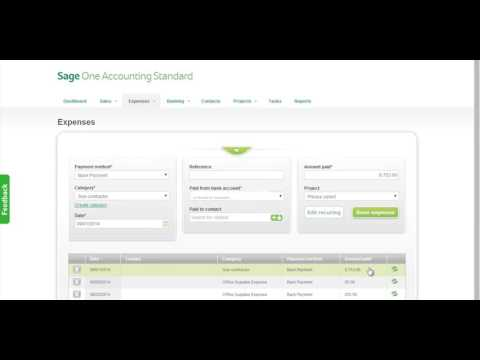 Sage Business Cloud Accounting (formerly Sage One) Standard Demo Canadian Edition