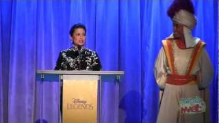 Lea Salonga (singing voices of Jasmine, Mulan) accepts Disney Legends award at the 2011 D23 Expo