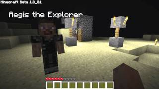 Minecraft Night time Mo'Creatures Mod and Hero
