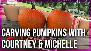 Carving Pumpkins with Courtney & Michelle - Live