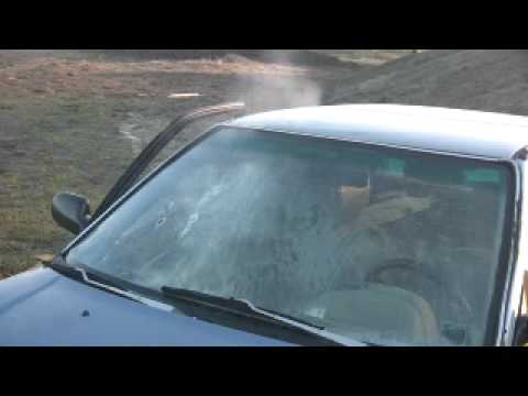 10mm vs  Car Windshield using Glock 20