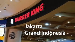 Burger King Jakarta Grand Indonesia Shopping Mall Cost Of Living