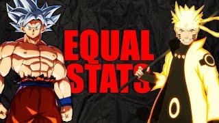 Ultra Instinct Goku VS Six Paths Naruto w/ Equal Stats | Dragon Ball Super VS Naruto Shippuden