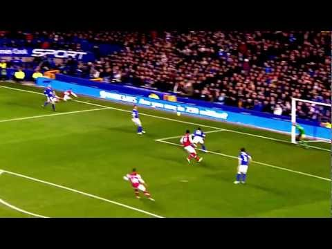 Kieran Gibbs vs Everton