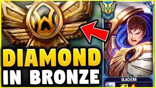 I TOOK MY GAREN INTO BRONZE! DIAMOND GAREN ONE TRICK VS BRONZE ELO! - League of Legends