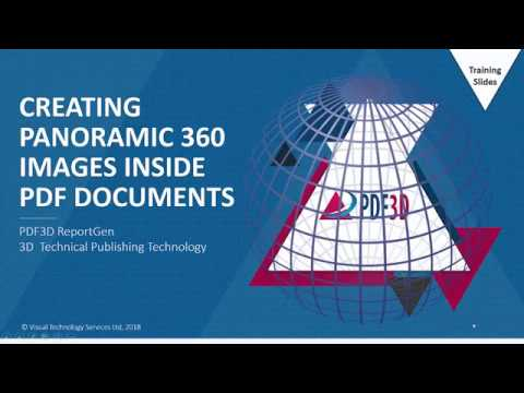 Creating Panoramic 360 Images in PDF Documents
