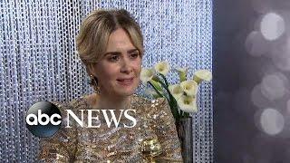 Sarah Paulson Interview on Golden Globes Win