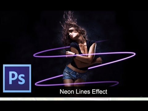 0 Adobe Photoshop CS6   Basic Neon Lines [ Tutorial ]