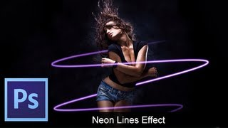 Adobe Photoshop CS6 - Basic Neon Lines [ Tutorial ]