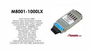 M8001-1000LX  |  Avaya compatible 1000BASE-LX 1310nm 10km GBIC