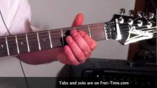 "Guitar lesson/Cours de guitare, ACDC Highway To Hell ""Chords"", slow version"