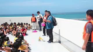 470人の新川小学校生徒・園児が避難訓練