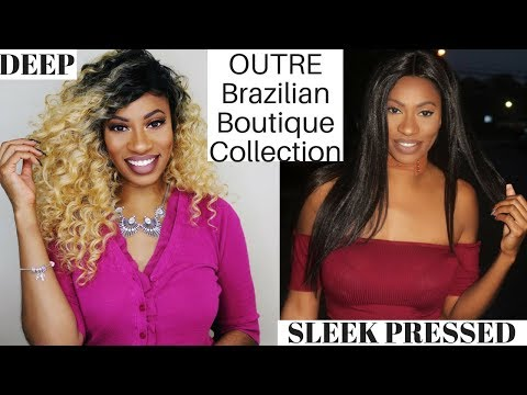 OUTRE Brazilian Boutique Collection 2 Wigs 1 Review SLEEK PRESSED & DEEP