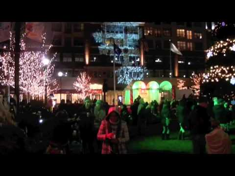 Lighting of the Christmas Tree at Bayshore town Center Glendale Wisconsin Nov 11, 2011