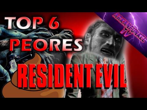 Top 6 peores juegos de Resident Evil