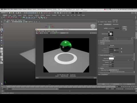 Maya 2011 Dielectric Material Mental Ray Tutorial by Stuart Christensen