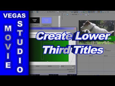 How to Animate Lower Third Text Backgrounds using Sony Vegas Movie Studio HD Platinum 10