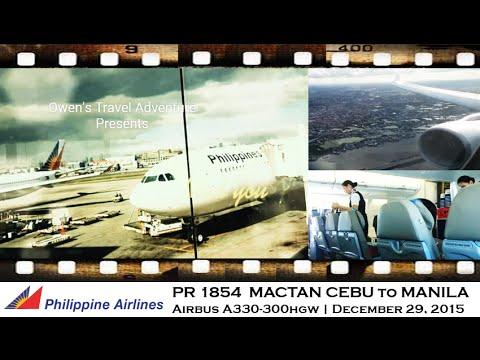 PHILIPPINE AIRLINES PR1854 -CEBU TO MANILA A330-300 HGW
