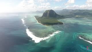 Astounding Underwater Waterfall in Mauritius