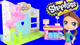 Shopkins Small Mart Playset with Littlest Pet Shop LPS Blythe and 2 Surprise Blind Bags Baskets