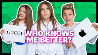 WHO KNOWS ME BETTER?! Piper Rockelle vs Gavin Magnus *CHALLENGE* | Sophie Fergi