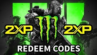 Black Ops 4 - How To Unlock Double XP Codes (Monster Energy)