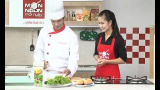 Cách làm Bánh mì kẹp thịt gà Tereyaki