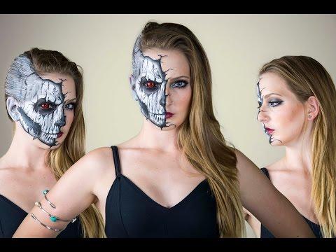 Sexy Cracked Skull Tutorial + Elsaween Giveaway video