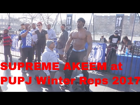 Supreme Akeem does Pull-ups, Squats and Push-ups at Winter Reps 2017