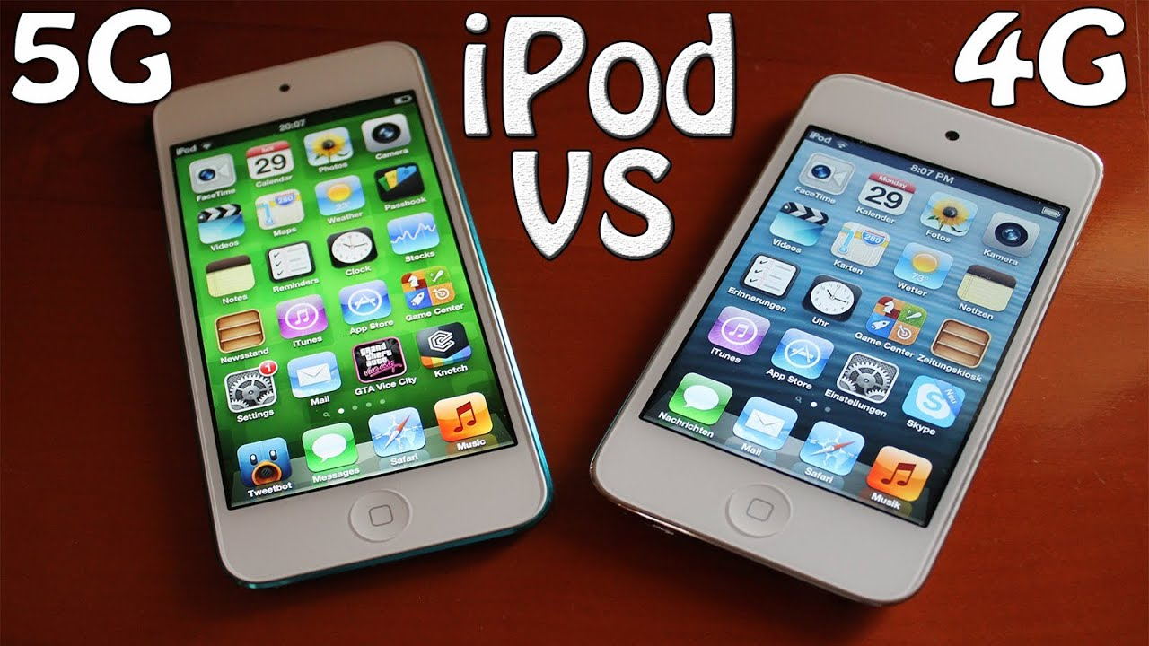 Apple Itouch Generations Itouch 4th vs 5th Generation