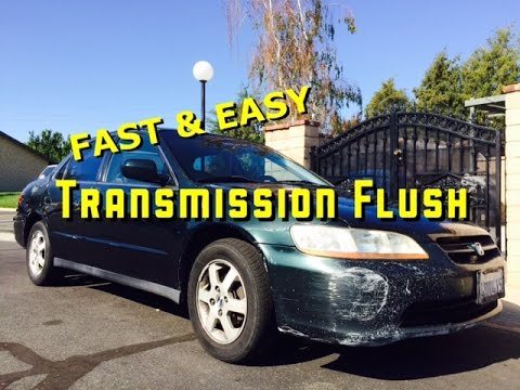 98 - 02 - Honda Accord - F22 F23 - 4 CYL - Automatic Transmission Flush - 6th Gen - Bundys Garage