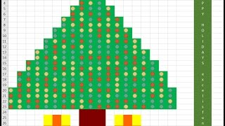 Sparkling Christmas Tree in Excel! Build Conditional Format Christmas Tree: Excel Magic Trick 1361