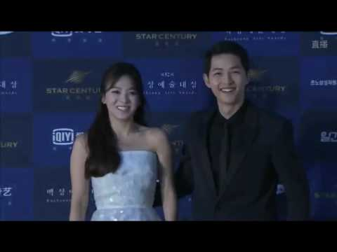 160603 송중기 송혜교 송송커플 Song Joong Ki Song Hye Kyo Song Song Couple @ BaekSang Arts Awards red carpet