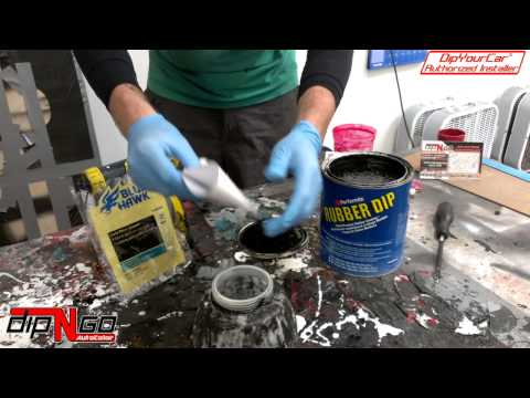 How To Fill Your Paint Gun With Plasti Dip Before Spraying An Automobile