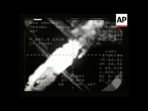 Soyuz space capsule docks with ISS