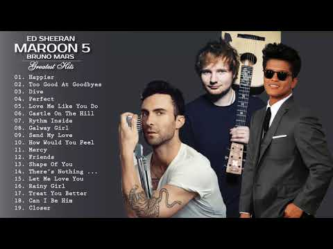 Maroon 5 Ed Sheeran Taylor Swift Adele Sam Smith Shawn Mendes  Best English Songs 2019