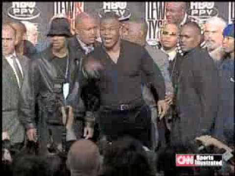 Mike Tyson Flips out at Tyson-Lewis Press Conference Jan 22, Image 1