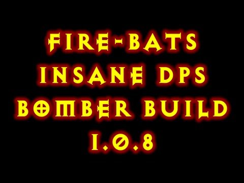 Diablo 3 1.0.8 Witch Doctor Fire Bats Bomber Build