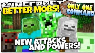 Minecraft | BETTER MOBS! | New Special Abilities | No Mods | Only One Command (One Command Creation)